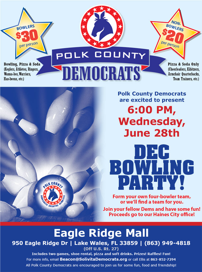 Join us for this Bowling FUN-raiser, June 28, 2017
