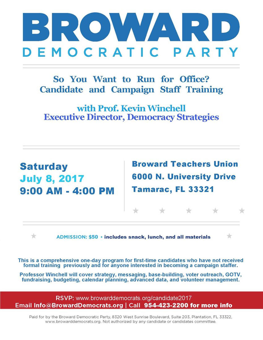Democratic Candidate Training - July 8, 2017