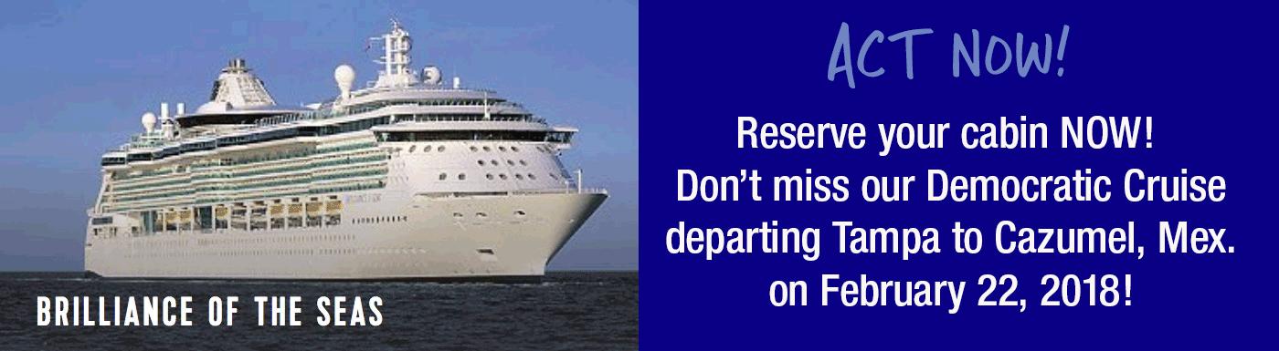 Register NOW! Cruise on February 22, 2018!