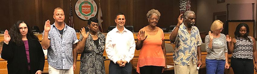 Rep. Darren Soto welcomes the seven newest precinct leaders to the  Polk DEC.