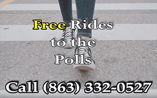 Call 863-332-0527 for a FREE Ride to Vote!