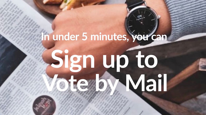 Vote By Mail, you damn fool!