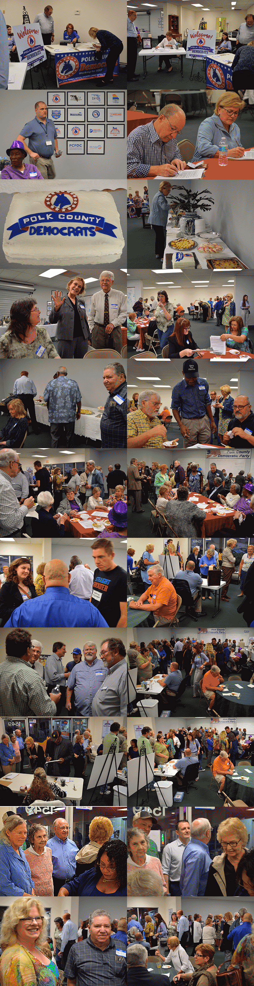 Polk Democrats celebrate their newheadquarters in Lakeland on February 2, 2019.