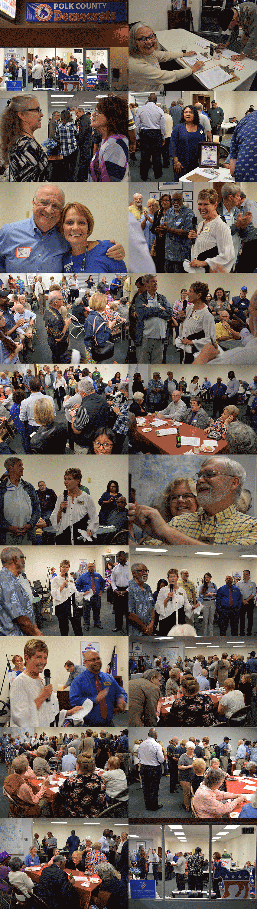 Polk Democrats welcomed more than 100 to our new office in Lakeland, FL.