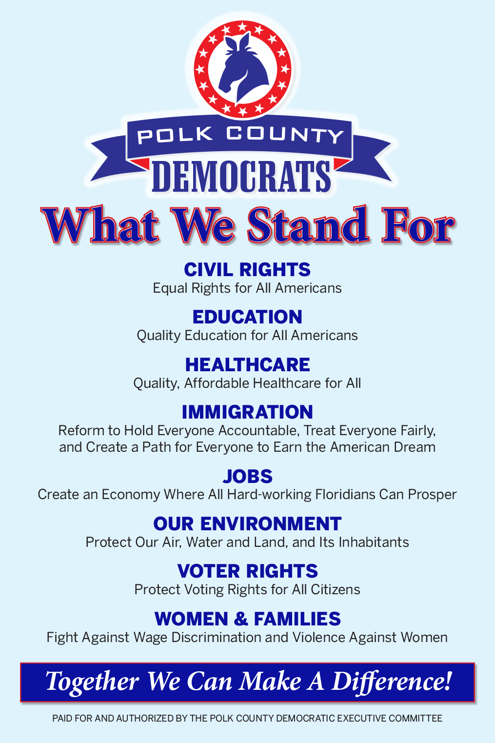 What We Stand For!