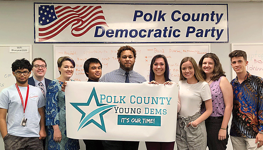 Polk Young Dems Elect Board for 2019-2020