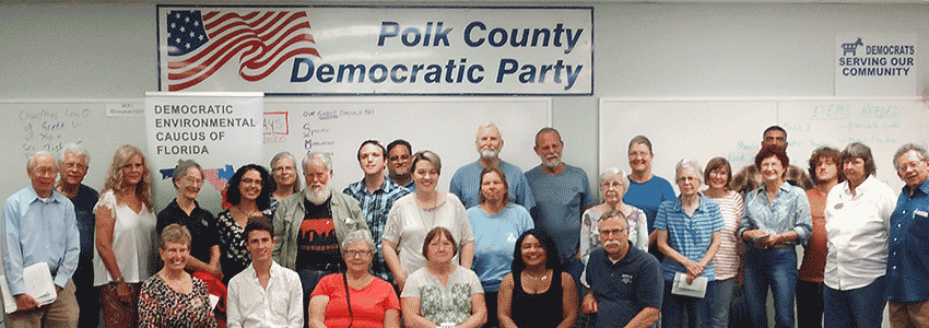 Members of the Polk County Democratic Enviornmental Caucus.