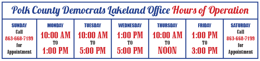 Lakeland Office Hours