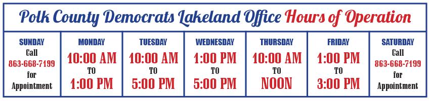 Lakeland Office Hours