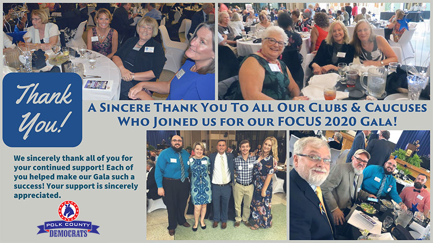 Thaks to all of our Club & Caucuses for their tremendous support!