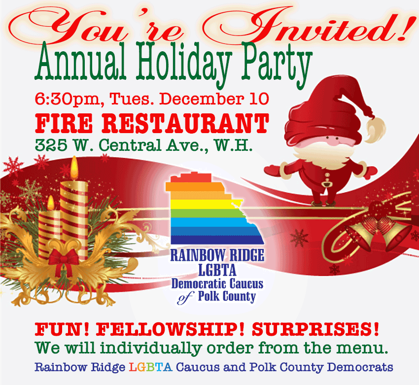 Join us at FIRE Restaurant in Winter Haven on Dec. 10th!