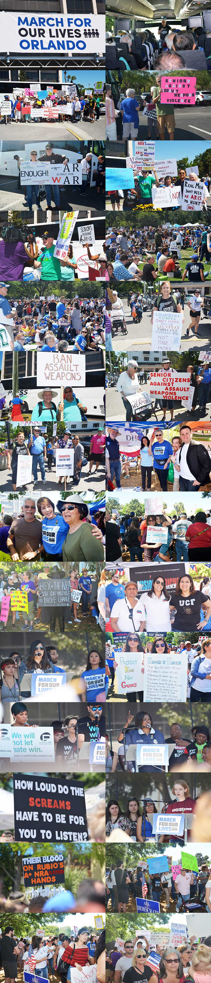 Polk Democrats traveled to Orlando by bus to participate in thei