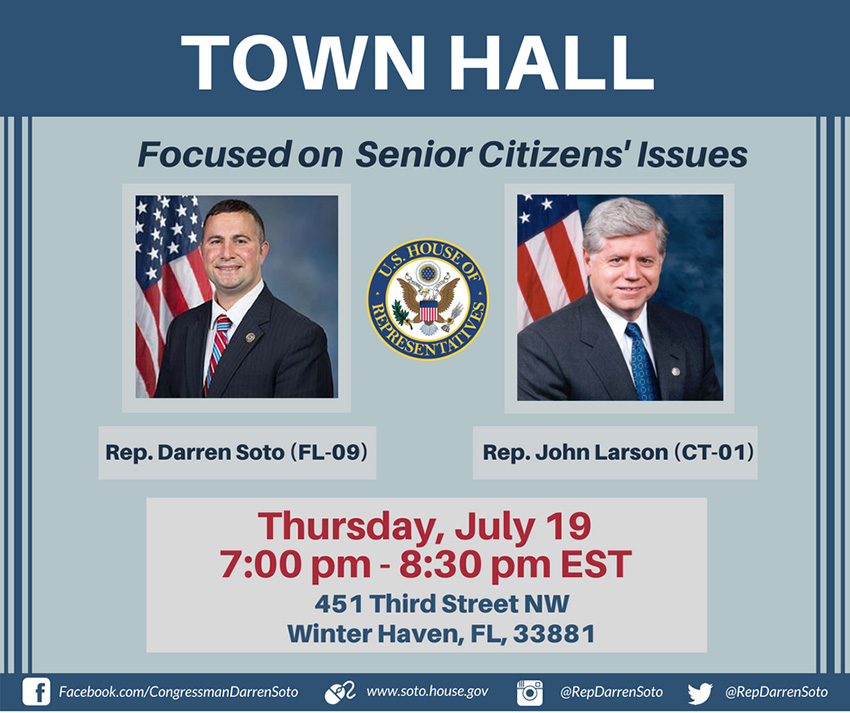 Rep. Darren Soto (D-CD9) to hold Town Hall, July 19, 2018