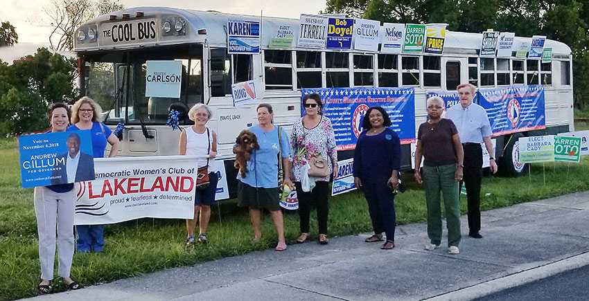 The Polk County Blue Wave Cool Bus needs your support!