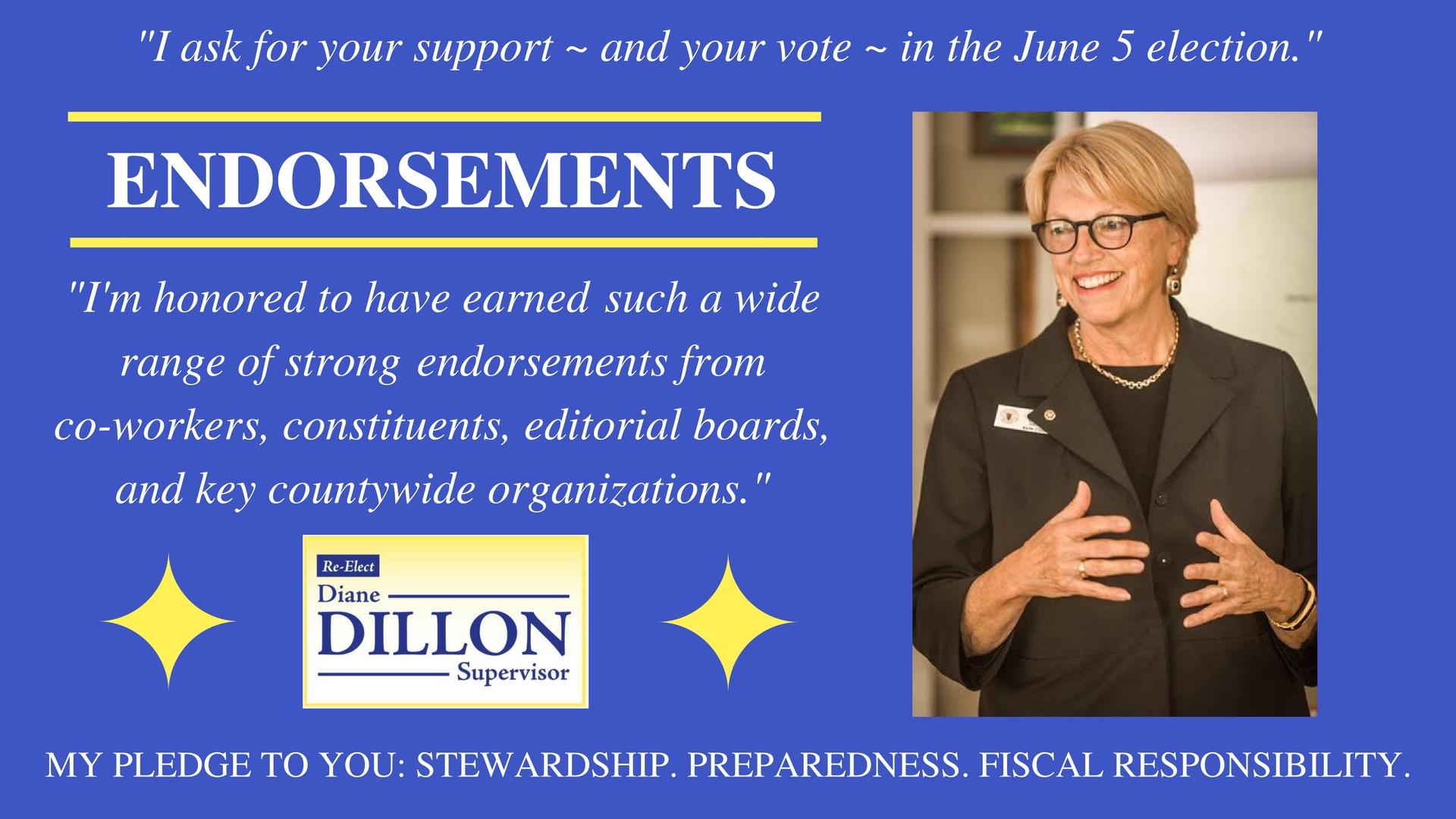 Dillon Endorsements 2018