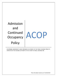 ACOP - King County Housing Authority